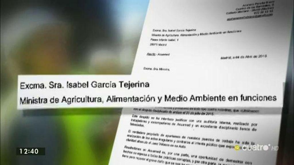Exclusiva: tras la readmisión en Acuamed de la Nª 2 excarcelada, las denunciantes piden su incorporación