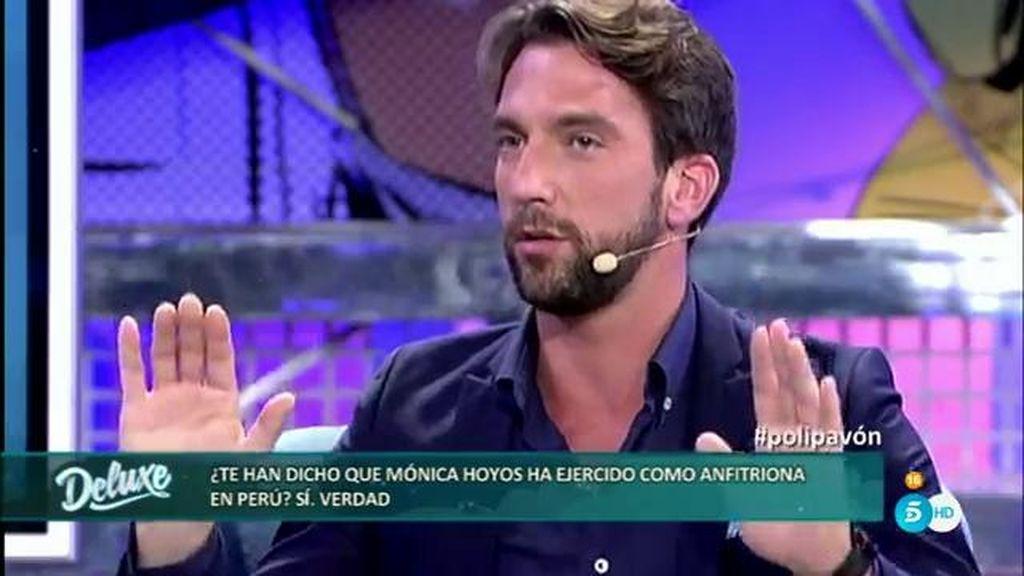 """Antonio Pavón: """"Me han dicho que Mónica Hoyos ha ejercido de anfitriona en Perú"""""""