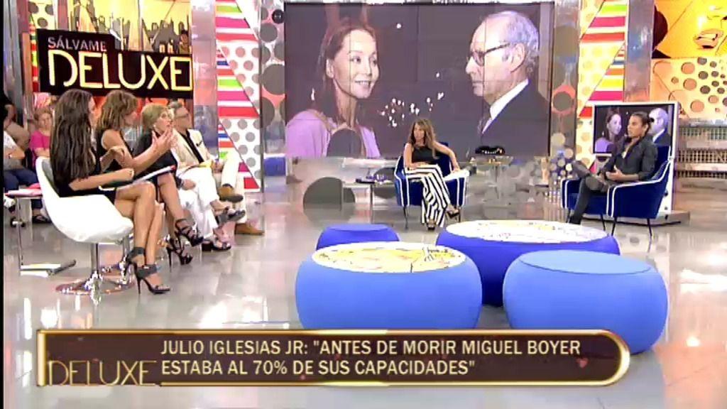 """Julio Iglesias Jr., sobre su madre: """"Miguel Boyer ha sido el gran amor de su vida"""""""
