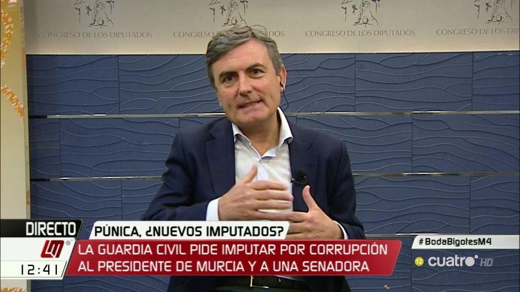 """Pedro Saura: """"Creemos que el presidente de Murcia tiene que dejar de ser aforado y tiene que dimitir"""""""