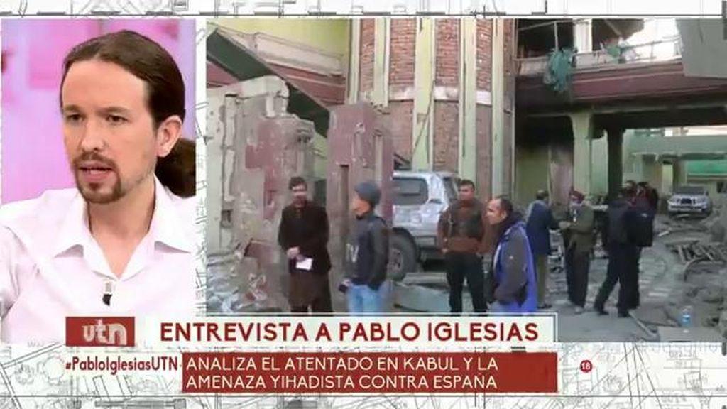 """Pablo Iglesias: """"Vi a Rajoy más sensato que otros dirigentes, Rivera me recuerda a Aznar"""""""