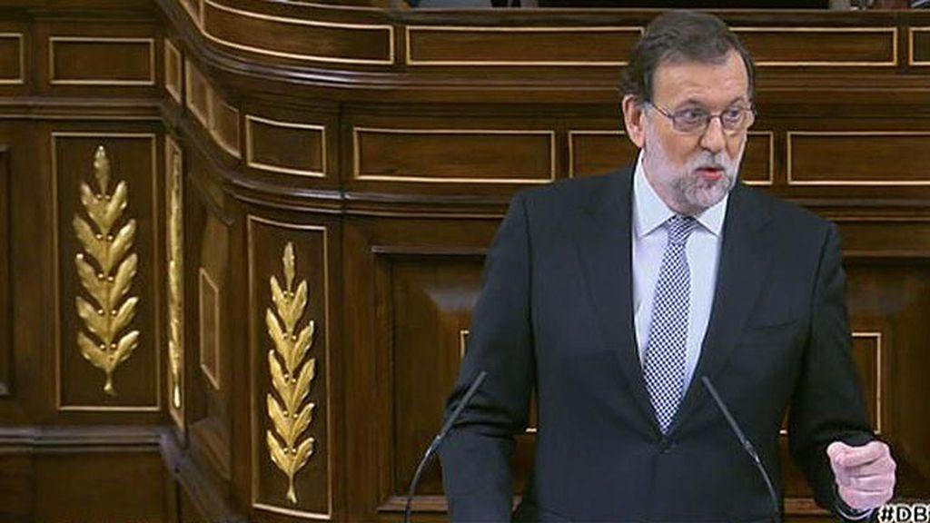 """Rajoy, a Sánchez: """"El acuerdo con el PP tronchaba sus expectativas personales"""""""