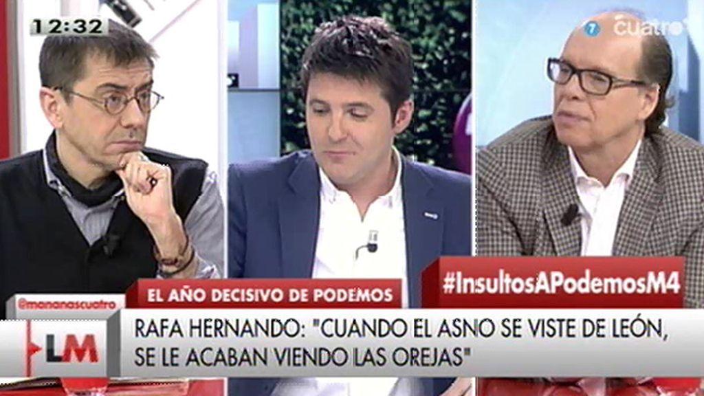 """Monedero cree que las afirmaciones de Hernando """"invitan a entender que el PP es una fábrica de disparates"""""""