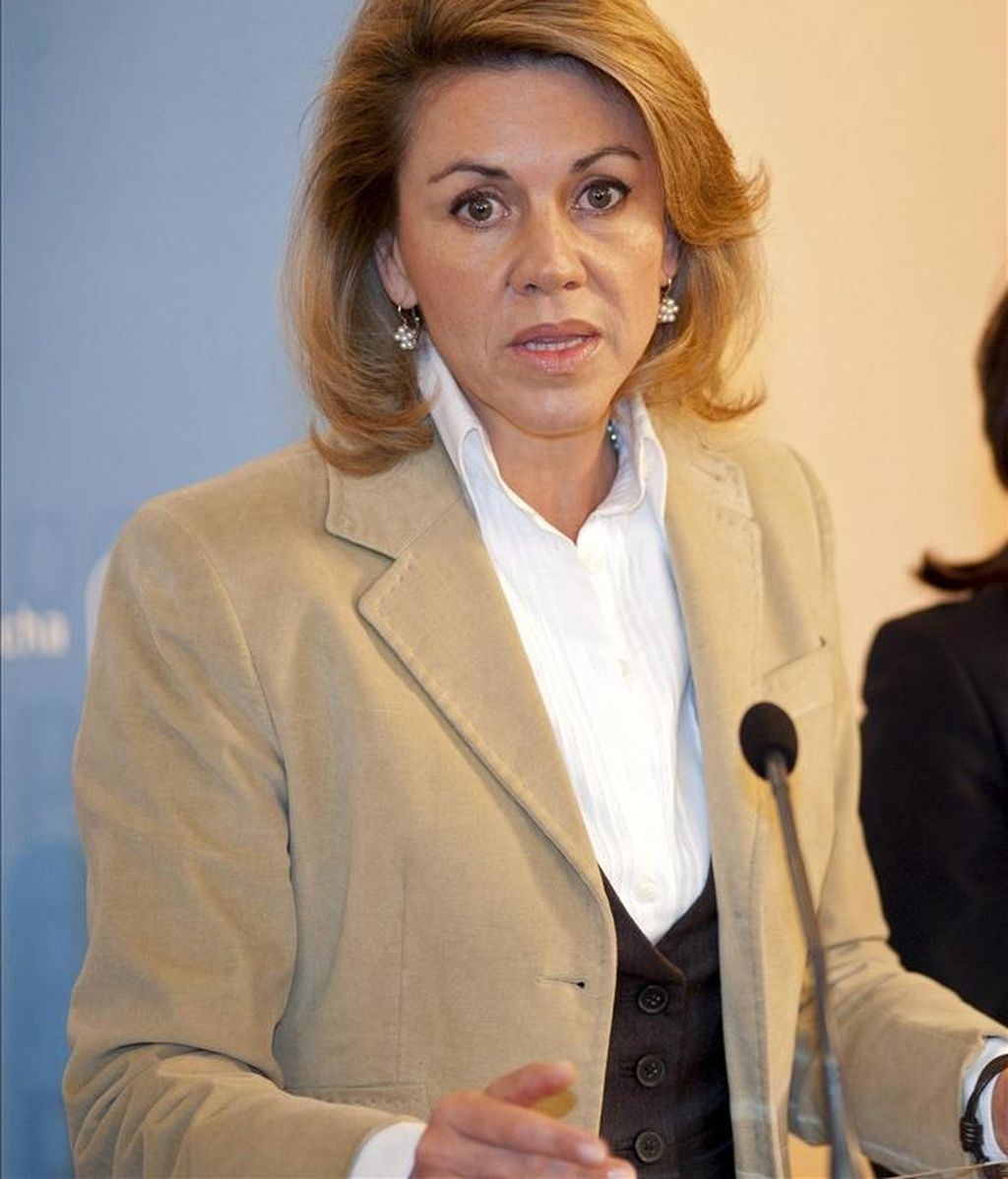 En la iamgen, la secretaria general del PP y candidata de los populares a la presidencia de Castilla-La Mancha, María Dolores Cospedal. EFE/Archivo