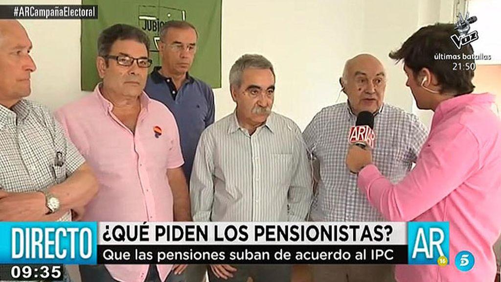 Los pensionistas reclaman que las pensiones suban de acuerdo al IPC