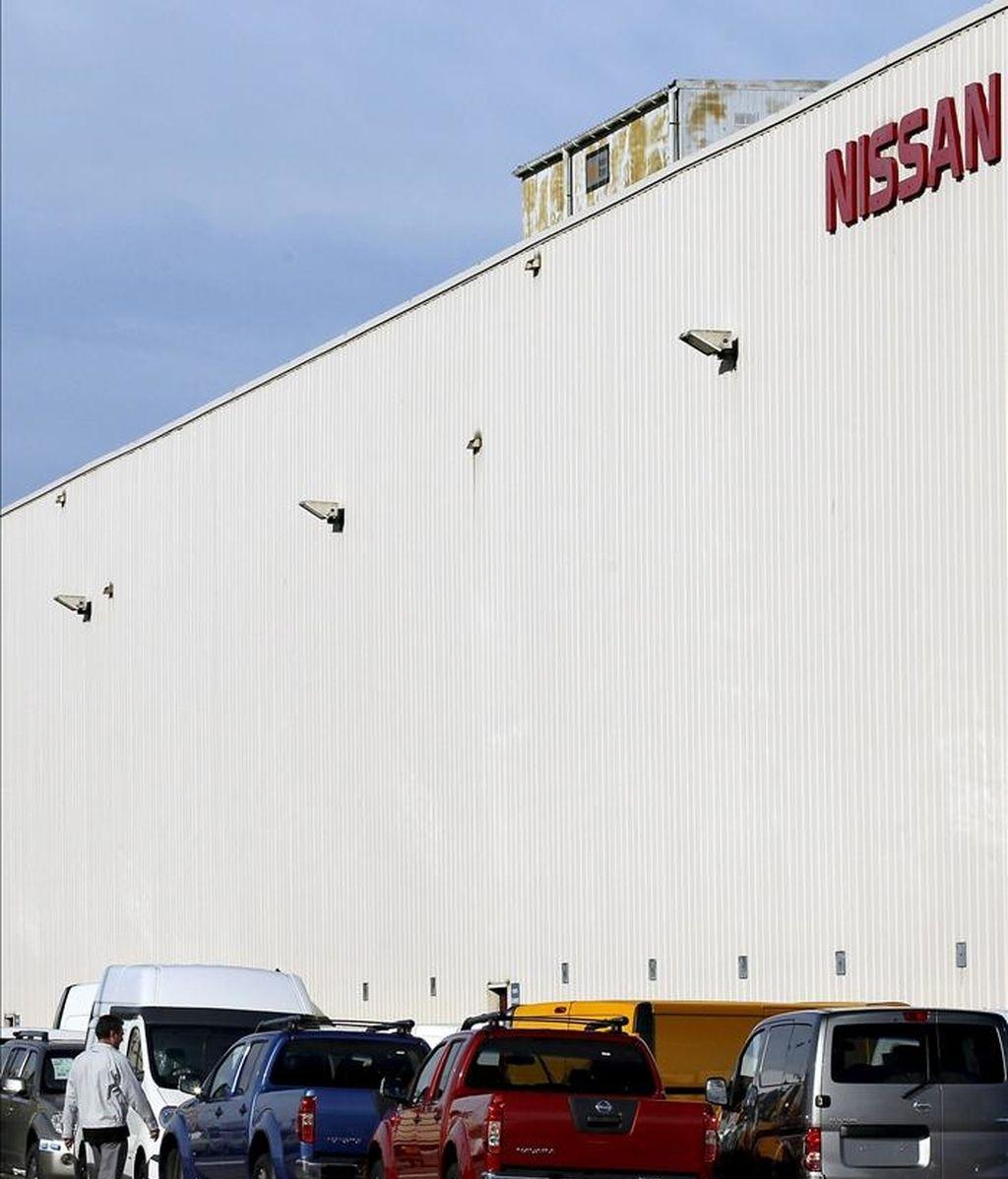 Imagen de la factoría de Nissan de la Zona Franca de Barcelona, ayer. EFE