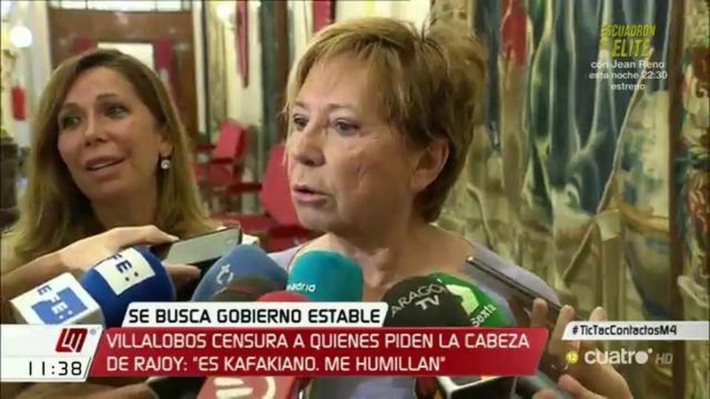 """Villalobos: """"Por mucho que se cabree quien se cabree, debe respetar que 8 millones quieren que Rajoy sea presidente"""""""