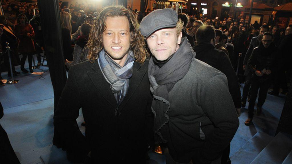 Los actores Jimmy Shaw y Filippo Sbalchiero