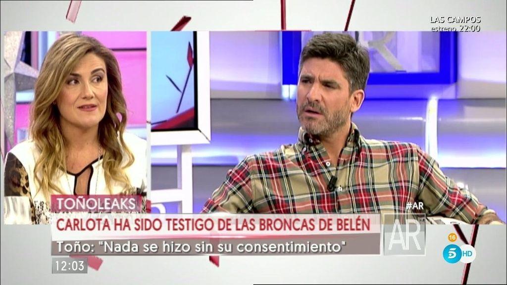 """Carlota Corredera: """"No creo a Toño y espero que los tribunales le den la razón a Belén"""""""