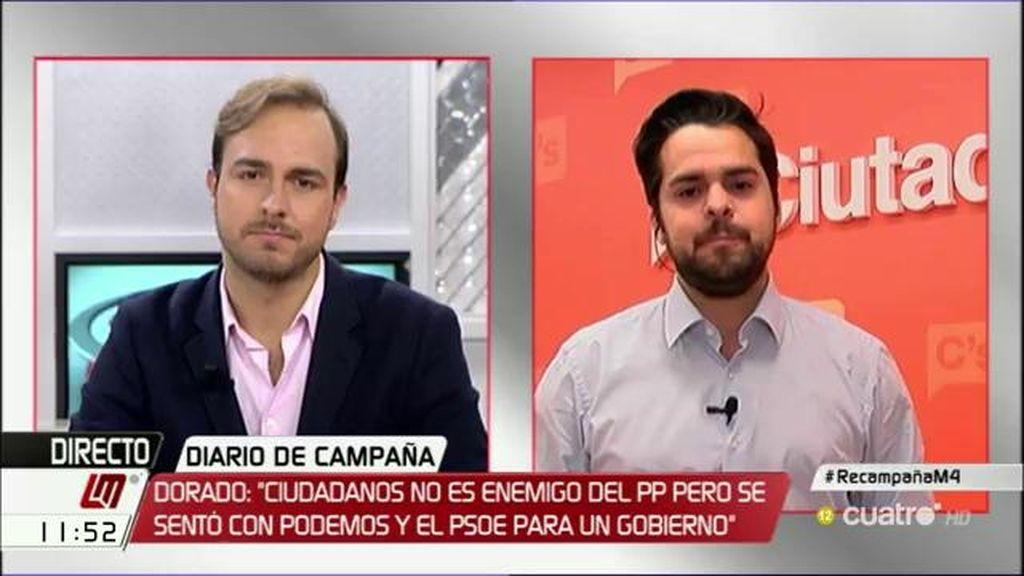 """Fernando de Páramo, a Javier Dorado: """"Si el enemigo público del PP es Ciudadanos es que no tienen un proyecto de país"""""""