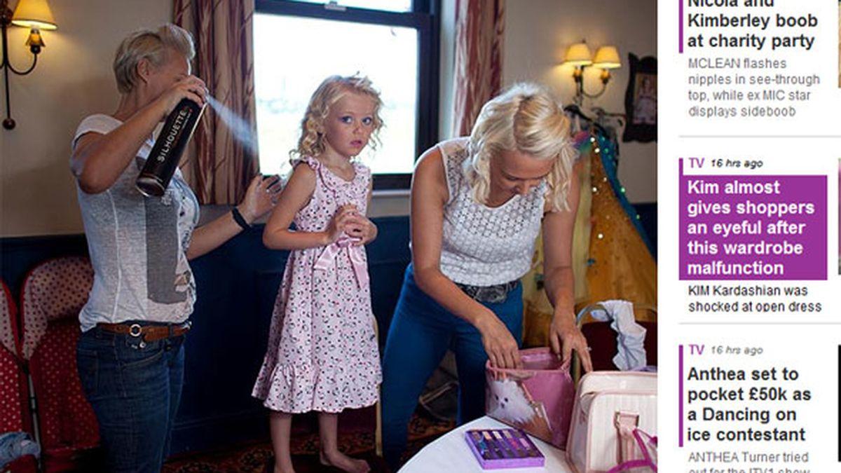 Hace peligrar la vida de su hija por los concursos de belleza