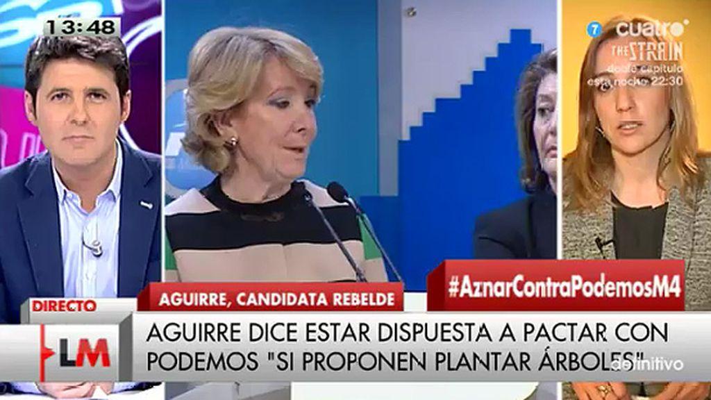 """T. Sánchez: """"No creo que Aguirre esté dispuesta a pactar"""""""