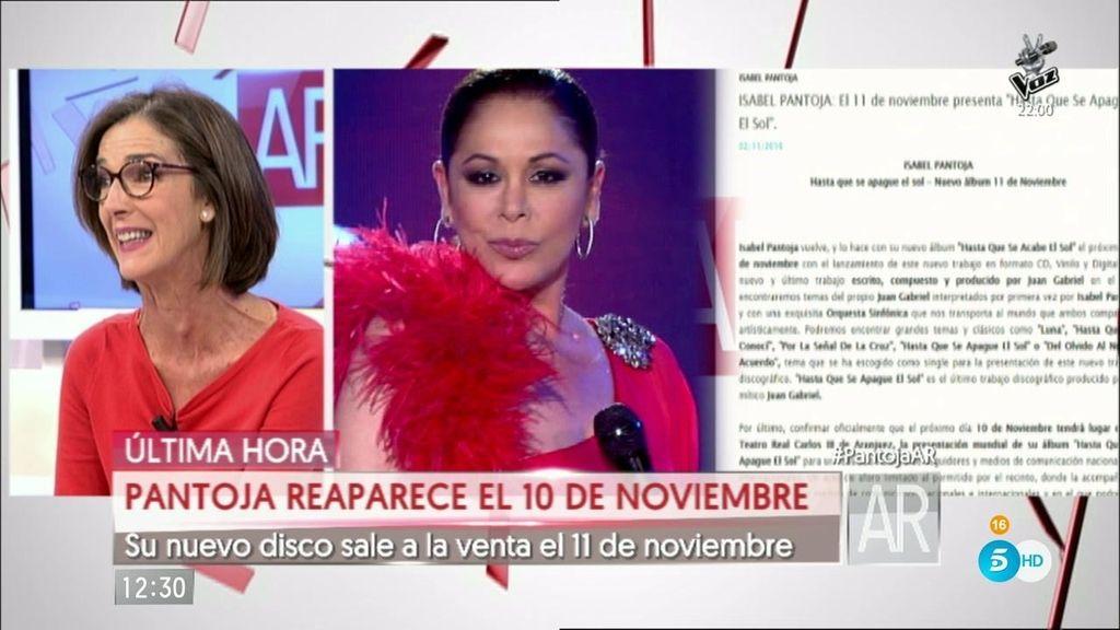Isabel Pantoja presenta su nuevo single 'Hasta que se apague el sol'
