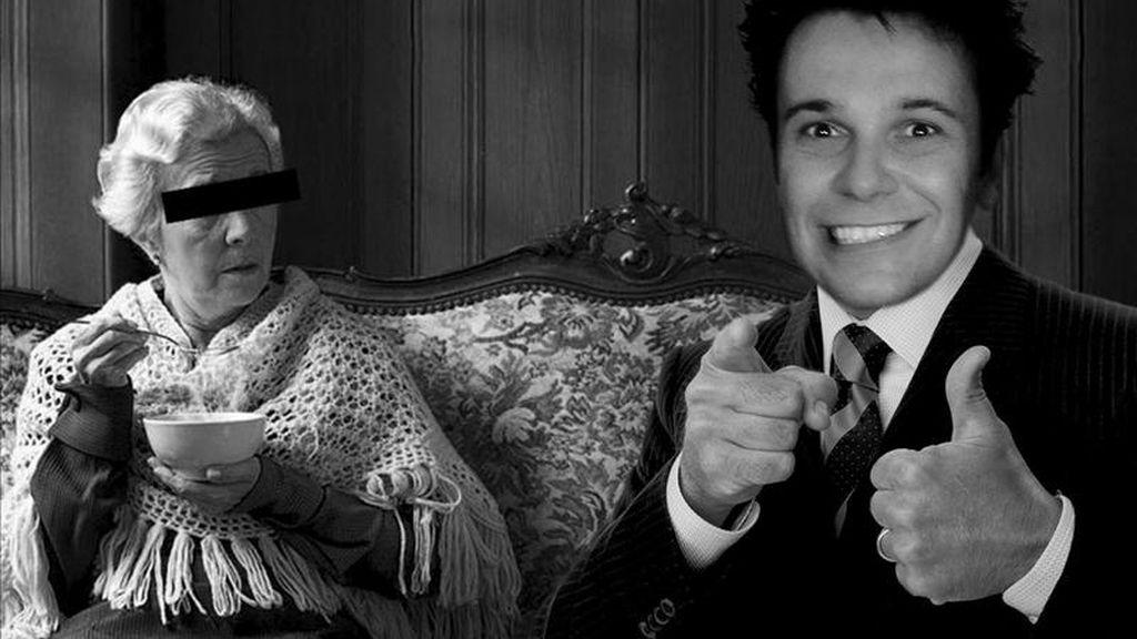Fotografía cedida por el polémico artista italiano Max Papeschi que ha decidido vender a su madre junto al resto de sus creaciones el próximo sábado en una galería de arte en Génova (noroeste de Italia), en la que la mujer posará con un cartel en el que se incluirán datos sobre el material y las dimensiones del producto. EFE