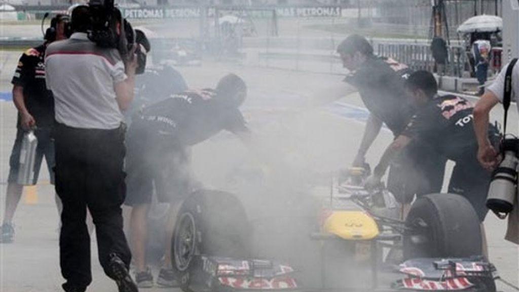 Problemas para Vettel