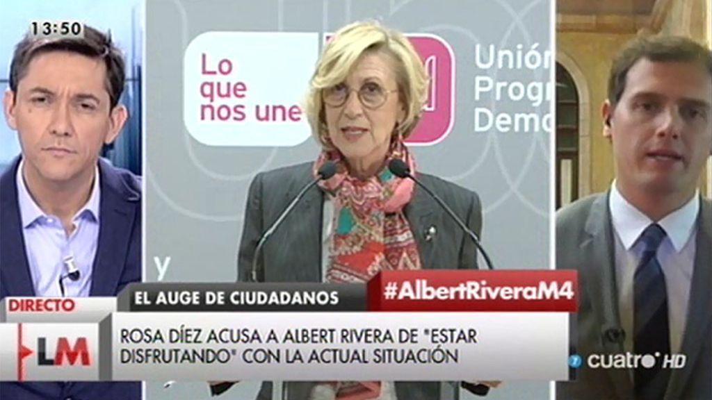 """A. Rivera: """"Se equivoca Rosa Díez, no me alegro del mal ajeno sino del bien común"""""""