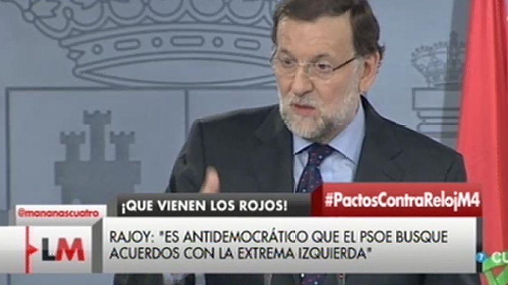 """Rajoy: """"Los pentapartitos o los tripartitos acaban por no funcionar"""""""