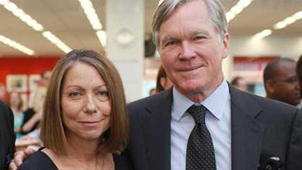 Jill Abramson, junto a Bill Keller. Foto: AP.