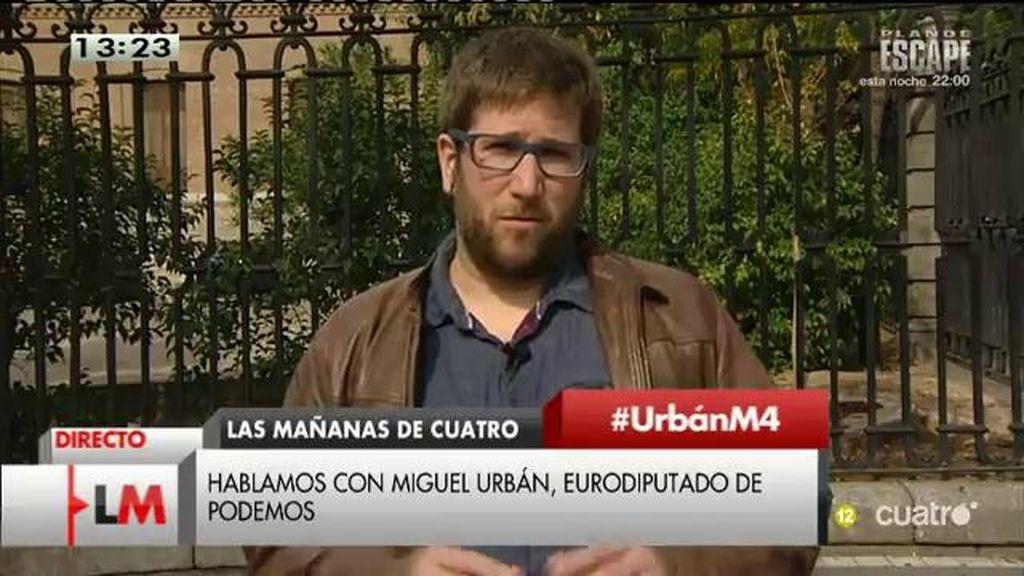 """Miguel Urbán: """"Me preocupan los aplausos de Rajoy a un xenófobo como Viktor Orbán"""""""