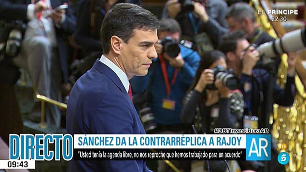 """Sánchez, sobre el pacto con Ciudadanos: """"El PP lo rechazó sin ni siquiera leerlo"""""""