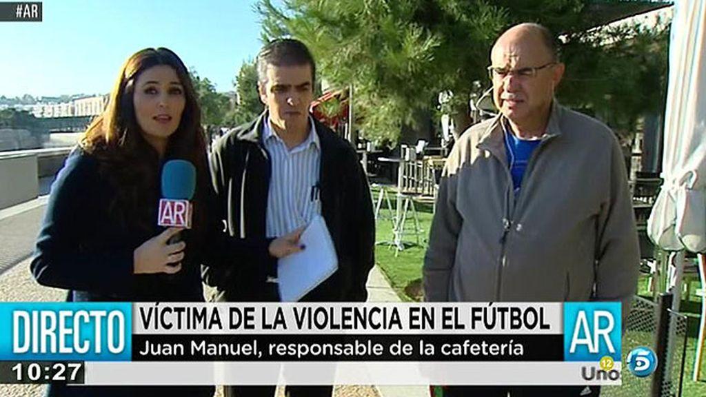 """Juan Manuel, propietario de una terraza en el 'Madrid Río': """"Me llamó el compañero para avisarme y le dije que se escondiera"""""""