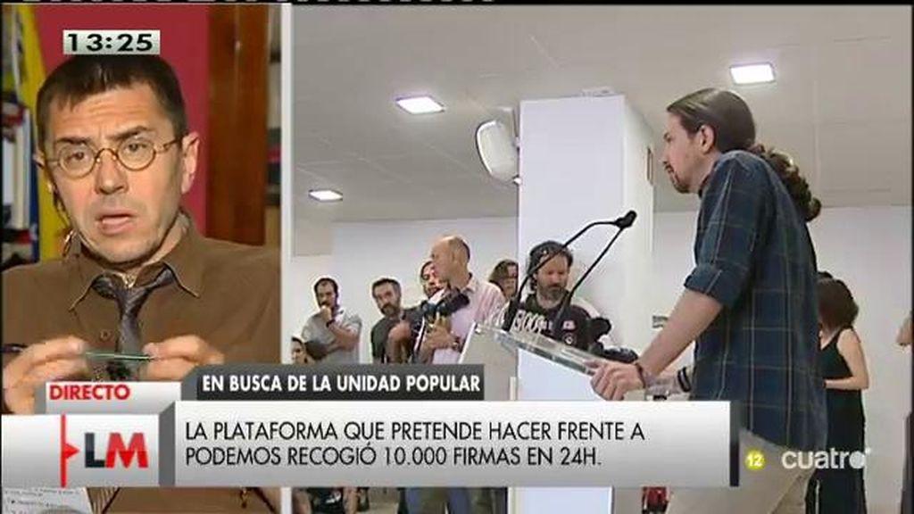 """Juan Carlos Monedero: """"Si alguien insiste en que la alternativa es sumar muchas cabecitas de ratón, se equivoca"""""""