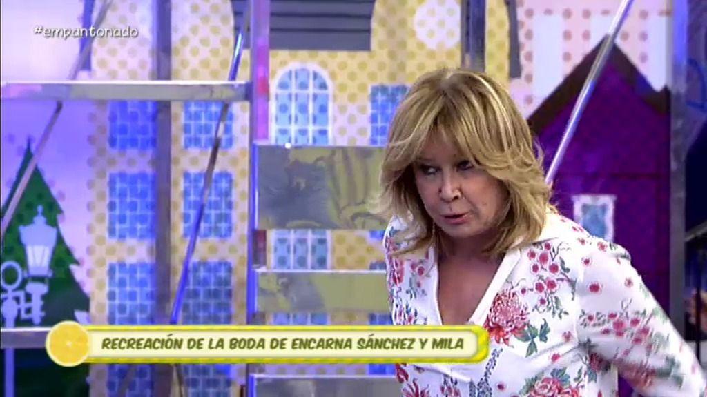 La divertida y sarcástica recreación de la boda de Encarna Sánchez y Mila
