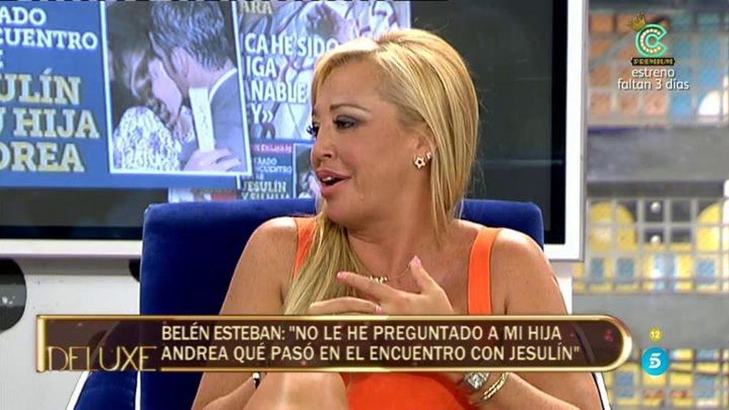"""Belén Esteban: """"Jesulín me pidió permiso para que Andrea le fuera a ver torear"""""""