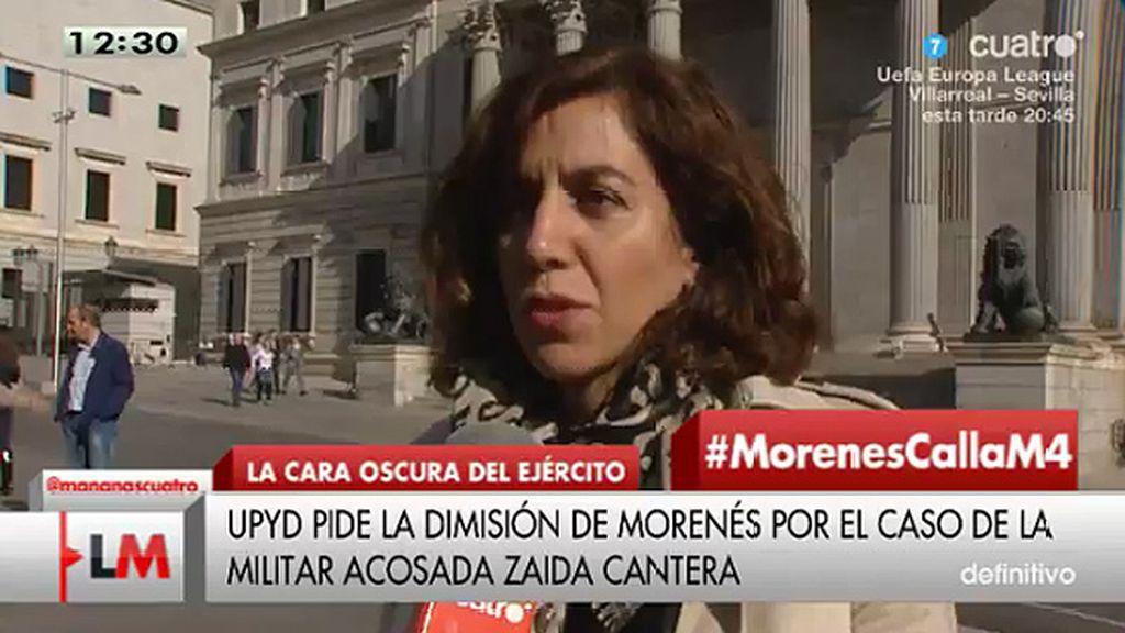 """Irene Lozano (UPyD): """"El ministro Morenés tiene que dimitir"""""""