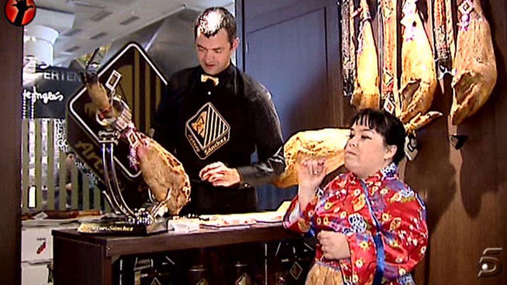 La reportera disfruta de las delicias del Madrid Fusión