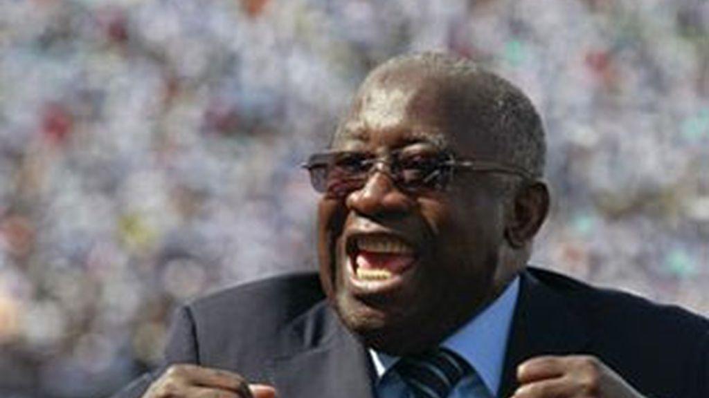 Fotografía de archivo del entonces presidente marfileño, Laurent Gbagbo, en Abiyán en 2010
