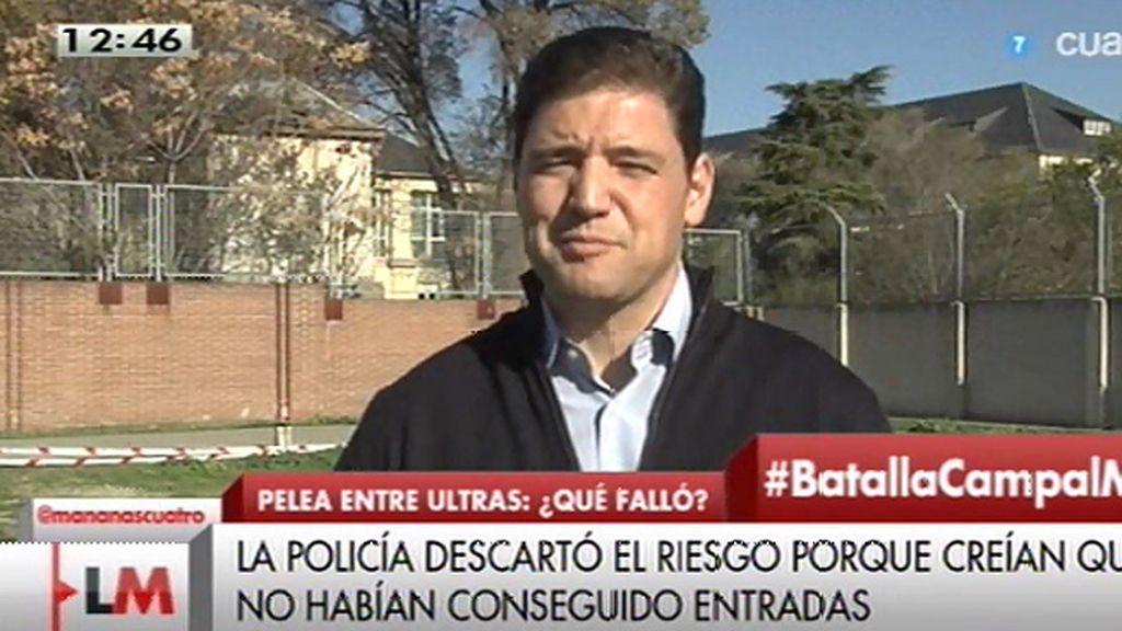 Javier Estévez, del SUP, afirma que se adelantó que podían viajar 50 ultras