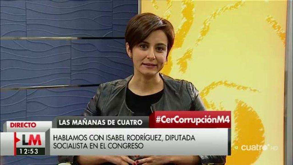 """Isabel Rodríguez (PSOE): """"Es el momento de que Rajoy asuma su responsabilidad"""""""
