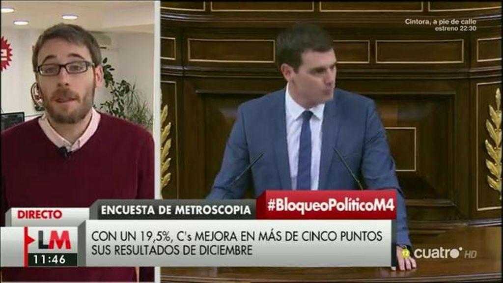 """Paco Camas (Metroscopia): """"La ciudadanía está premiando a los partidos que intentan formar gobierno"""""""