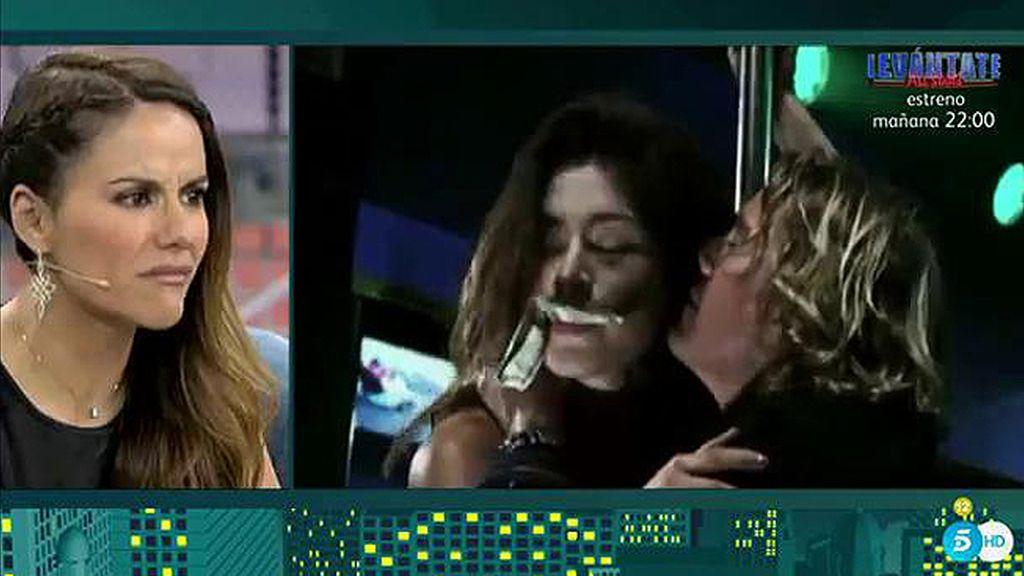 Mónica Hoyos alucina con las imágenes subiditas de tono de Miriam