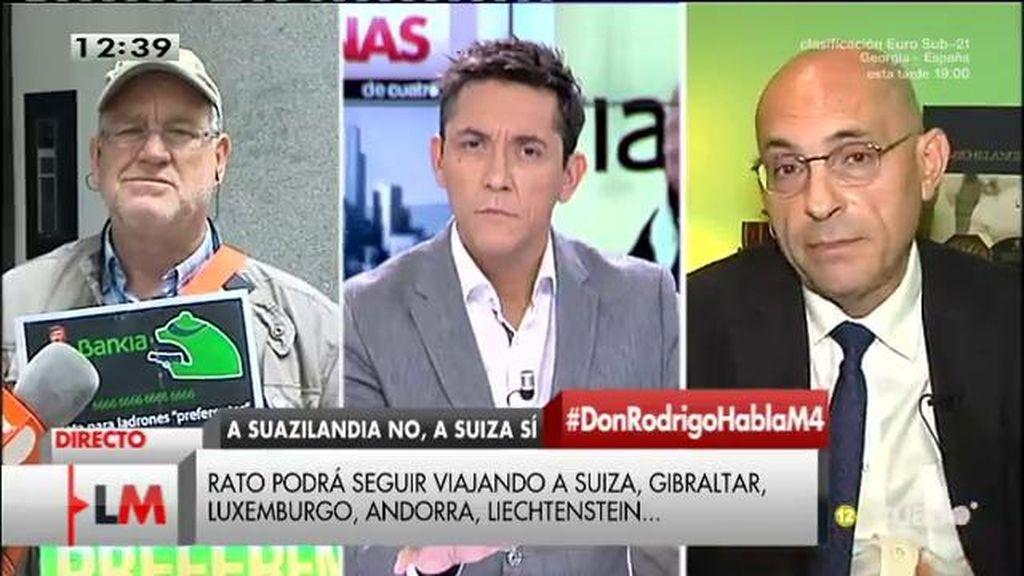 """Elpidio Silva, sobre el caso Rato: """"Podría pensar que, de siete marchas, el aparato judicial está en primera"""""""