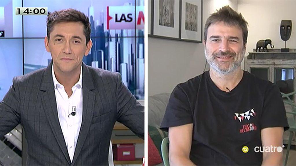 """Alberto San Juan: """"El gobierno está actuando pero no demasiado bien, les haría falta una clase de teatro"""""""
