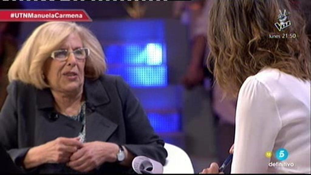 """Manuela Carmena: """"Para mí hay una palabra clave que es evaluar, significa escuchar"""""""