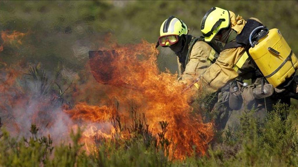 Fotografía de archivo de septiembre de 2010 de un incendio forestal en Valencia. EFE/Archivo