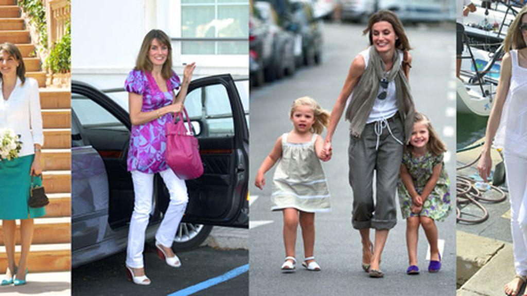 La princesa Letizia Ortiz ha dejado a Don Felipe de Borbón en Mallorca con la familia real y se ha marchado con las infantas. Foto GTRES