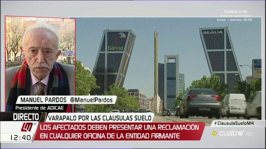 """Pardos, presidente de ADICAE: """"De Guindos será el más decisivo con la banca"""""""
