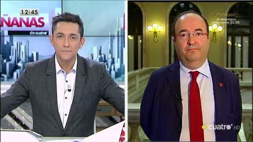 """Miquel Iceta: """"Lo que hay en el PSOE es una digestión de unos resultados electorales que no han sido buenos"""""""