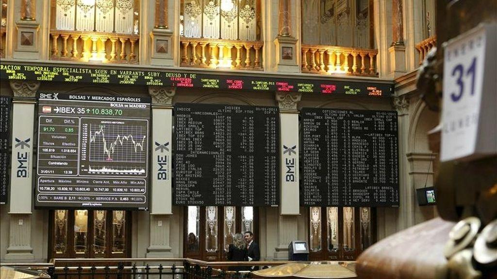 Imagen del principal indicador de la Bolsa española, el IBEX 35. EFE/Archivo