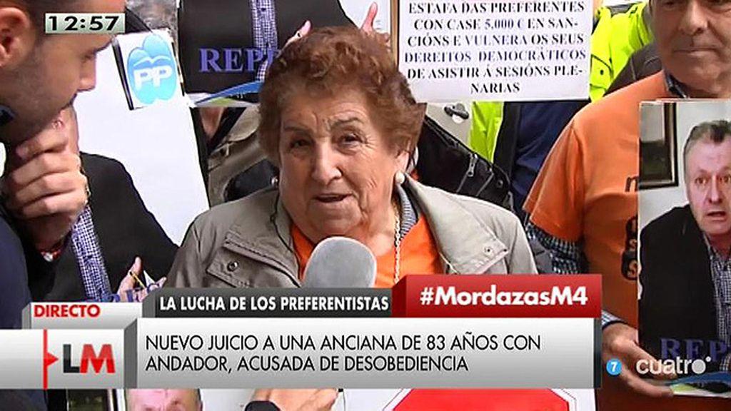 Nuevo juicio a una mujer de 83 años acusada de desobediencia