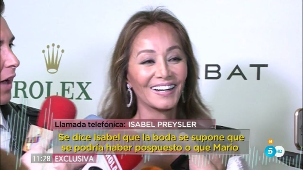 """Isabel Preysler, sobre su boda: """"La burocracia peruana está siendo muy pesada"""""""