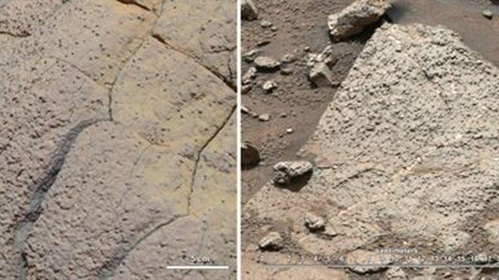 La roca taladrada por Curiosity en la superficie marciana