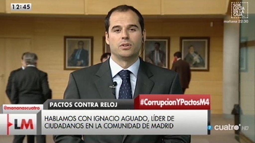 """Ignacio Aguado: """"Vamos a ejercer una labor de árbitro en la Asamblea de Madrid"""""""