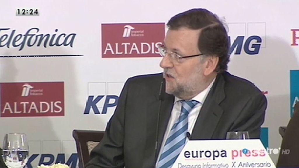 """Mariano Rajoy: """"Yo quiero ser el candidato y confíen en mí, les irá bien"""""""