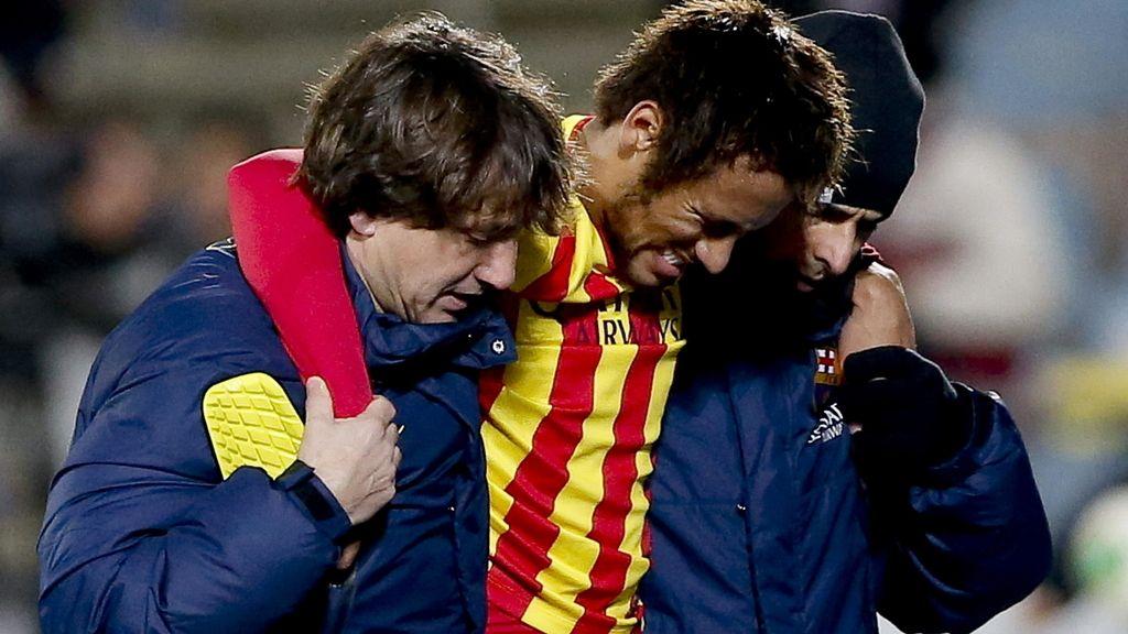 Neymar sufre un esguince en el tobillo derecho