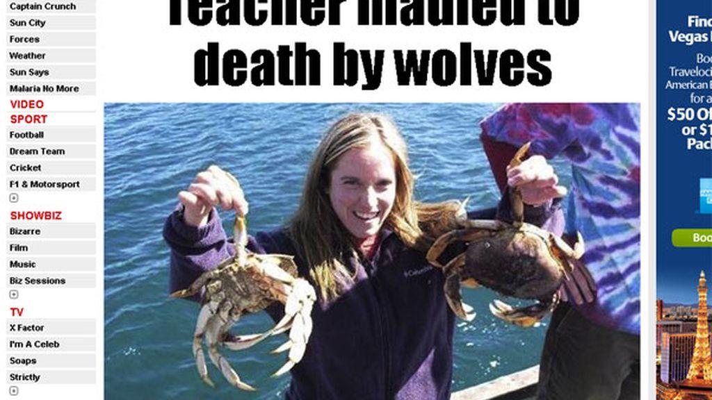 Muere al ser atacada por lobos